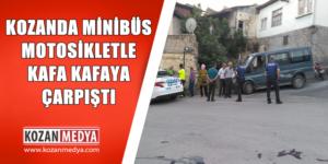 Kozan'da Ters Yöne Giren Araç Motorla Kafa Kafaya Çarpıştı 1 Yaralı