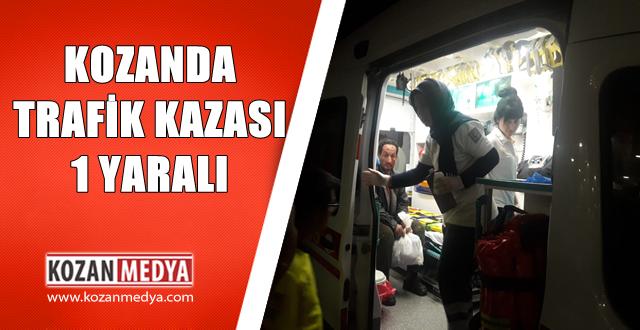 Adana'nın Kozan İlçesinde Meydana Gelen Trafik Kazasında 1 Kişi Yaralandı.