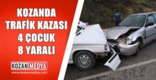 Kozan'da Trafik Kazası 4 Çocuk 8 Yaralı