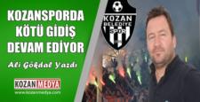 Kozanspor Kötüye Gidiyor Ali Gökdal Yazdı