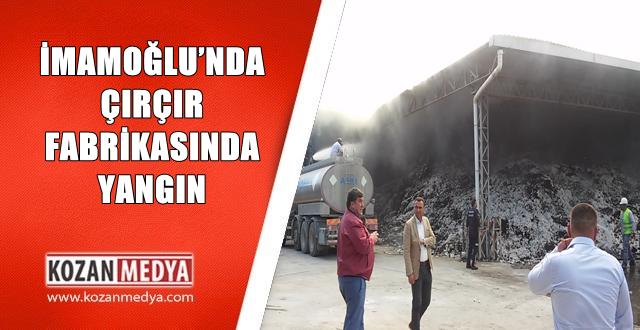 İmamoğlu'nda Çırçır Fabrikasında Yangın