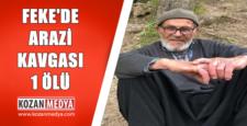 Feke'de Arazi Kavgası 1 Ölü 1 Yaralı