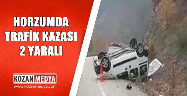 Horzum'da Araç Takla Attı 2 Yaralı