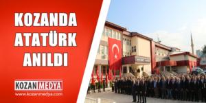 Gazi Mustafa Kemal Atatürk´ ün Ölümün 81. Yıl Dönümünde Kozan'da da Anıldı