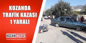 Kozanda Motosikletle Otomobil Çarpıştı 1 Yaralı