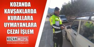 Hastane Kavşağında Kurallara Uymayanlara Trafik Cezası