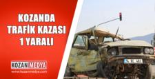 Kozanda Trafik Kazası 1 Yaralı
