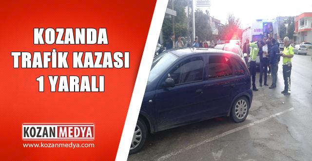Kozan'da Araç Yayaya Çarptı 1 Yaralı
