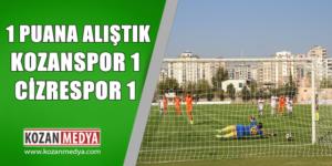 Kozanspor Cizrespor 1'er Puanı Bölüştü
