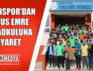Kozansporlu Futbolculardan Yunus Emre Ortaokuluna Ziyaret