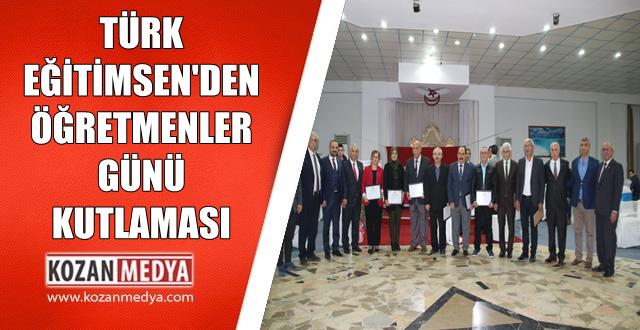 Türk Eğitim-Sen Kozan Temsilciliği Öğretmenler Gününü Kutladı
