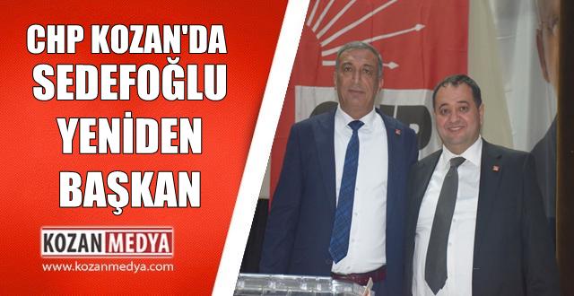 Kozan Chp'de Sedefoğlu Yeniden Başkan