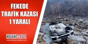 Feke'de Araç Irmağa Düştü 1 Kişi Yaralandı
