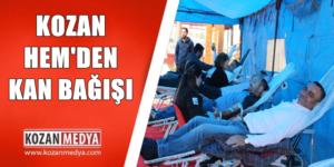 Kozan HEM'den Kızılay'a Kan Bağışı Kampanyası