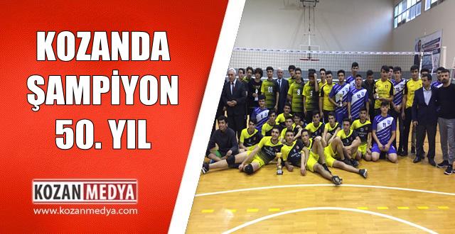 Kozan'da Şampiyon 50. Yıl Şehit İbrahim Yüce Anadolu Lisesi