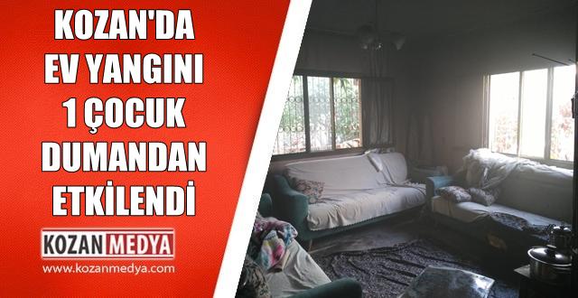 Kozan'da Gece Saatlerinde Ev Yangını