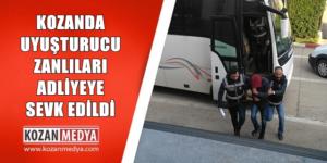 Kozan'da Uyuşturucu Ticareti Zanlıları Adliyeye Sevk Edildi