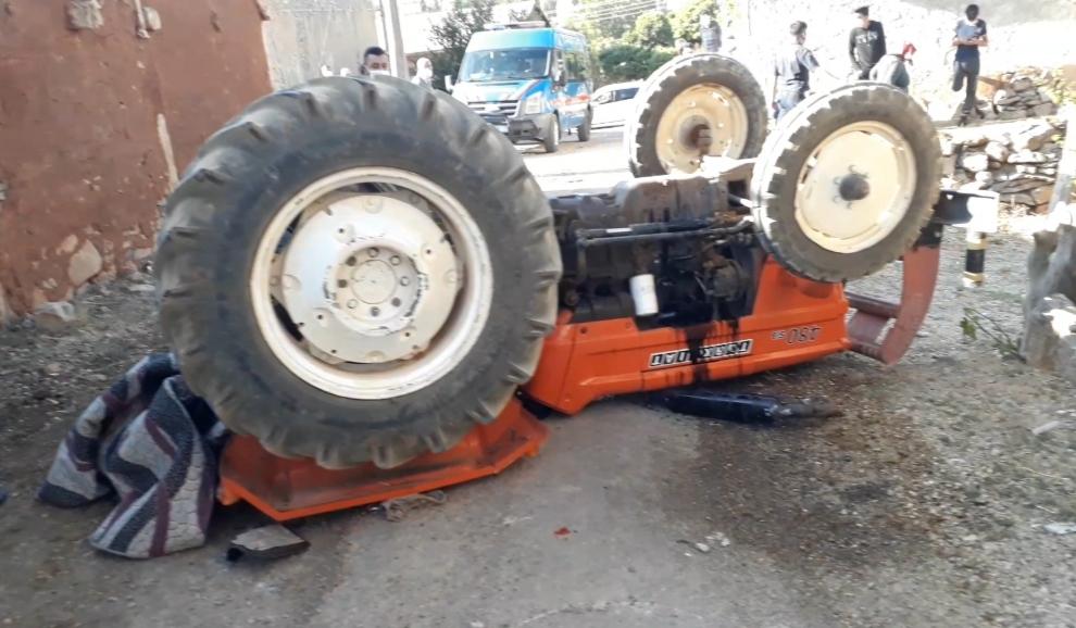 Tufanbeyli Bozgüney'de Traktör Kazası 1 Ölü