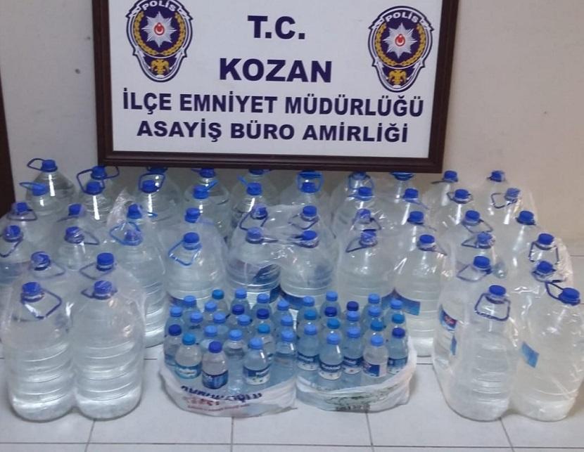 Kozan'da Operasyonda 239 Litre Sahte İçki Ele Geçirildi