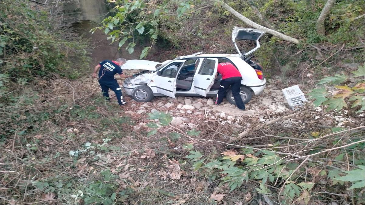 Kozanda Trafik Kazasında 2 Kişi Yaralandı