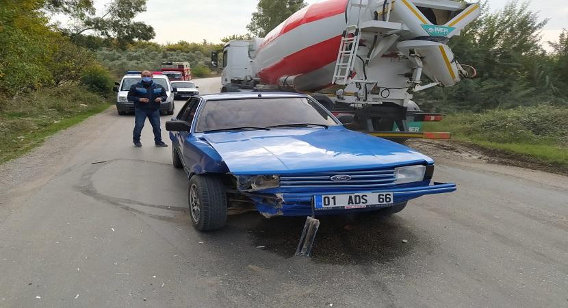 Kozan'da Trafik Kazası 1 Yaralı