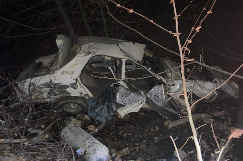 Feke'de Feci Kaza Araçla 200 Metre Uçuruma Yuvarlandı 1 Ölü