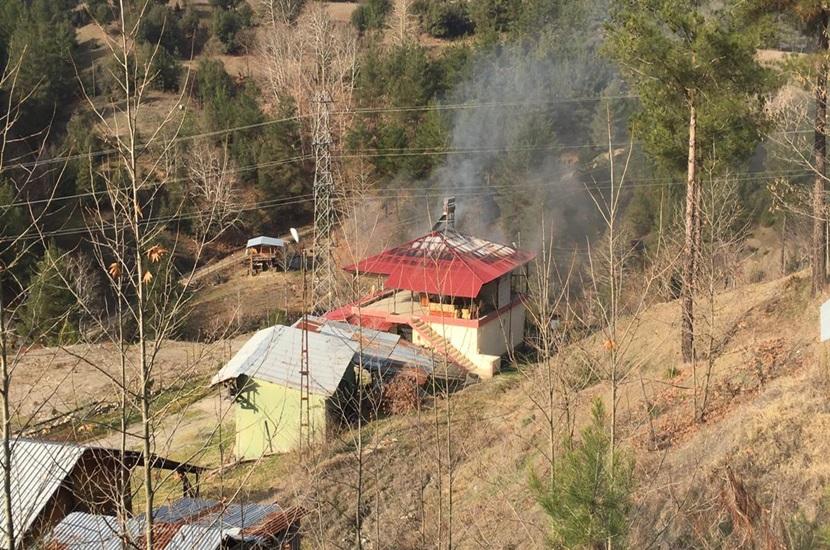 Kozan Çulluuşağında Ev Yangını