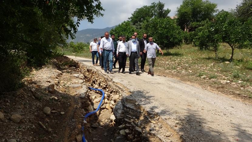 AK Parti Milletvekili Abdullah Doğru Kozan'da Sel Bölgesinde